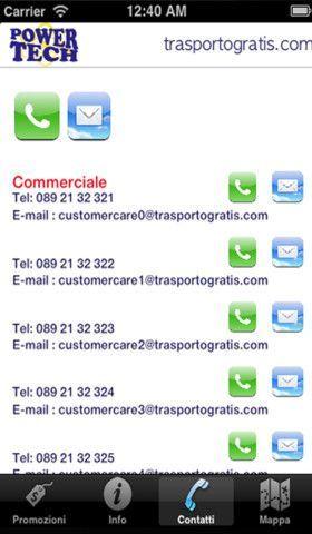 5. contatti telefonici e e-mail diretti