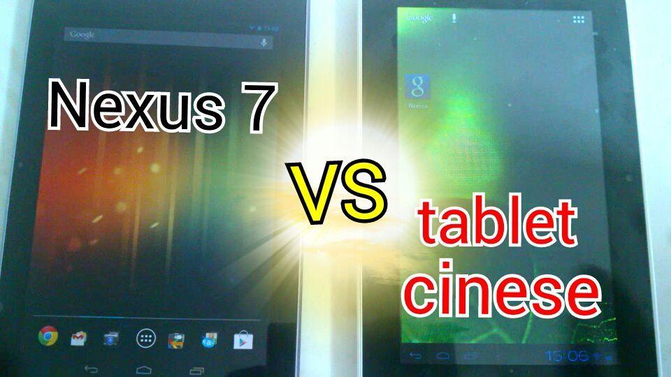 Tablet cinese low vost vs Asus nexus 7