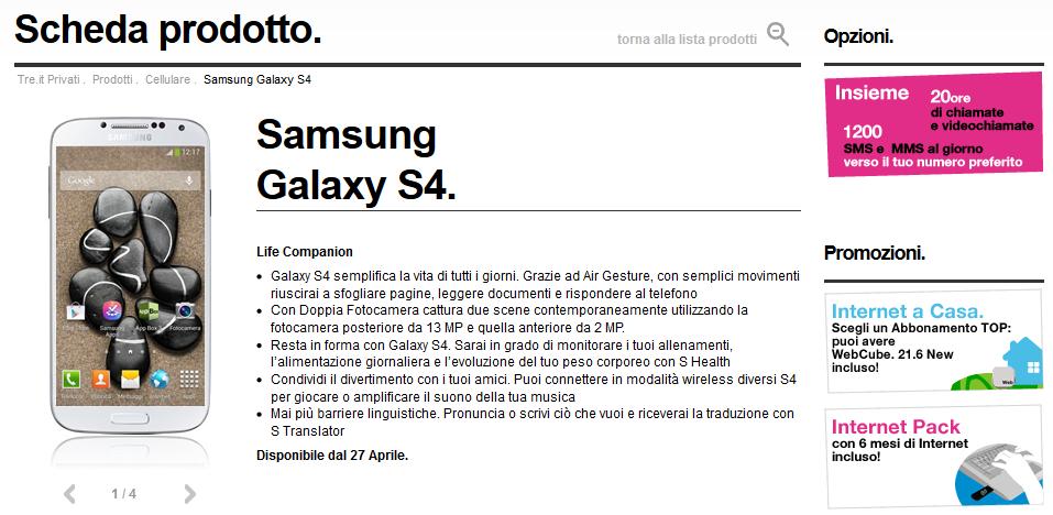 Samsung Galaxy S4 Prezzo e Scheda tecnica - Mozilla Firefox
