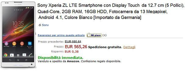 Sony-Xperia-ZL-Amazon-Italia