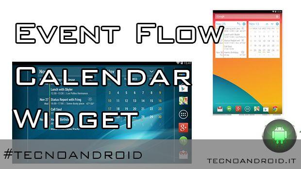 event flow calendar