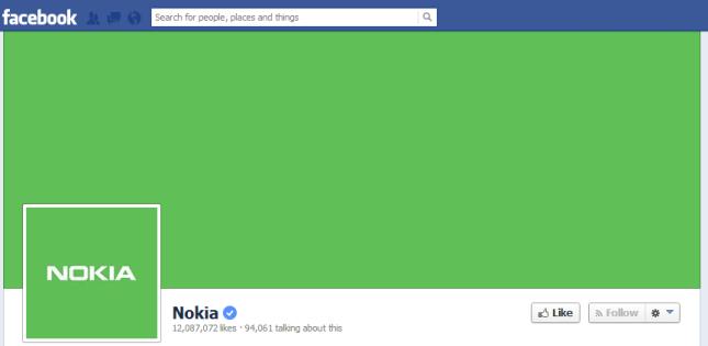 nokia-green-fb-page