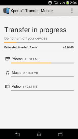 xperia transfer mobile5
