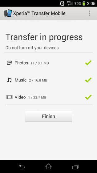 xperia transfer mobile6
