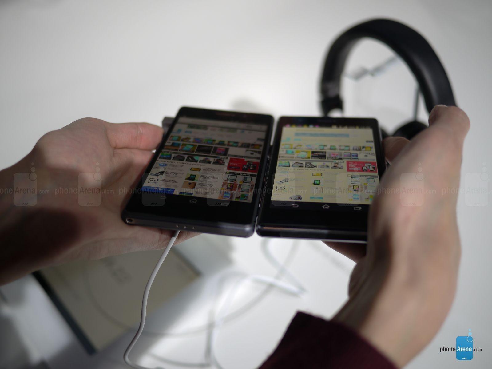 Sony Xperia Z2 vs Xperia Z1  confronto del displayXperia Z1 Vs Xperia Z2