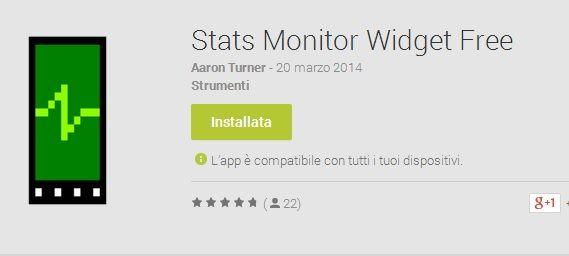 stats monitor widget