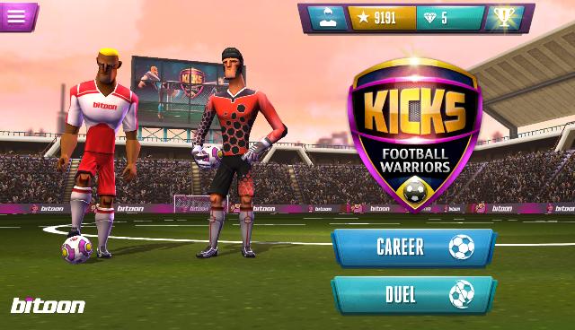Kicks! Football Warriors-Soccer è un gioco gratuito con acquisti in app presente sul Play Store e da poco aggiornato, con grafica spettacolare. Scopriamo come funziona Kicks! Football Warriors-Soccer, un gioco di calcio diverso da quello che possiamo immaginare e che non è il solito gioco dedicato al più amato degli sport sul pianeta. Una volta scaricato (trovate il badge a fine articolo) e avviato la prima cosa che si nota e che salta agli occhi è la grafica. La grafica è stata molto curata e i giocatori hanno tutti una propria personalizzazione che li distingue dagli altri, in perfetta sintonia la musica che fa da colonna sonora a Kicks! Football Warriors-Soccer.