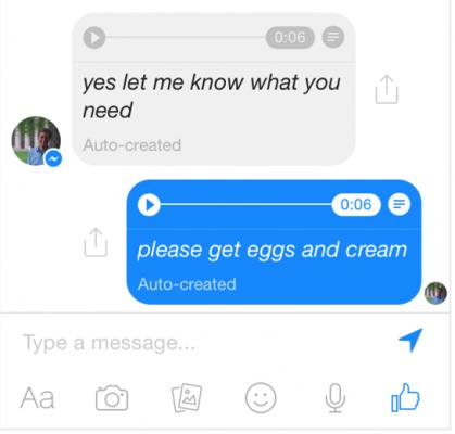 facebook messenger messaggi vocali