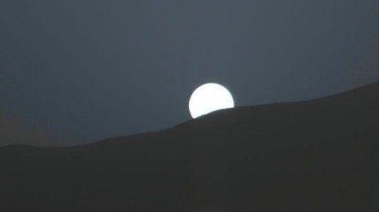 Marte tramonto blu