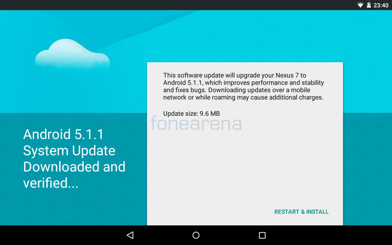 Nexus 7 2012 Android 5.1.1