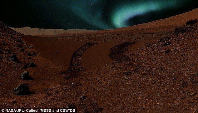 Aurora boreale su Marte