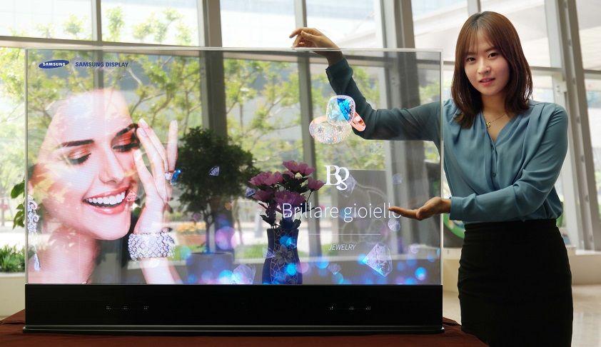 Samsung presenta nuovi display OLED trasparenti e a specchio