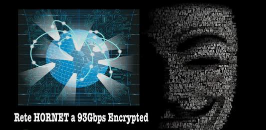 connessione anonima rete Hornet 93gbs