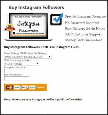 Profili fasulli Instagram