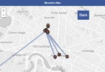 pedinare amici facebook mappa del malandrino
