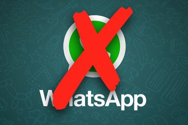 utilizzo di WhatsApp vietato