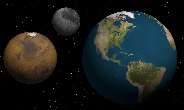 moon shots of earth and mars - photo #27