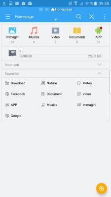 nascondere i file su android