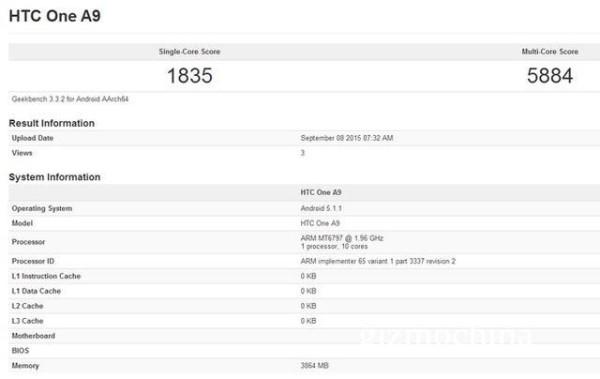 HTC One A9: in rete sono comparsi i primi benchmark