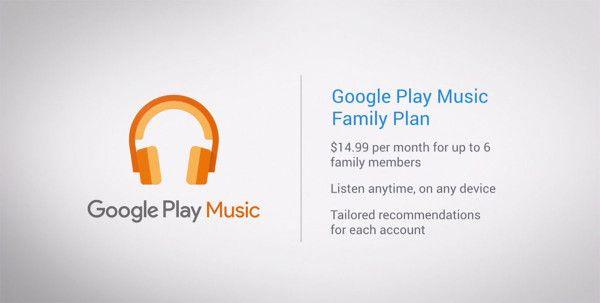 "Google lancia il ""family plan"" per Play Music"