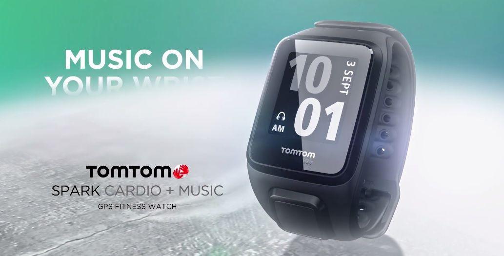 TomTom spark cardio+music gps fitness watch