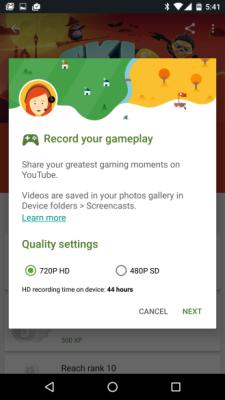 Google Play Games: ora è possibile registrare i gameplay
