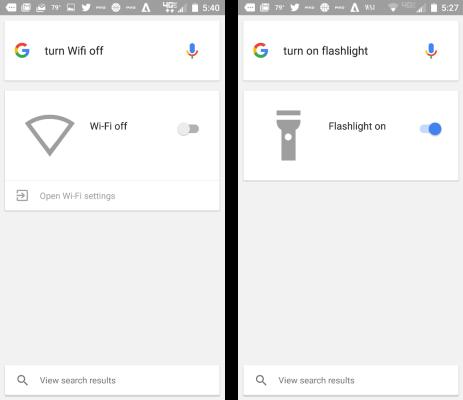 Google Now comandi vocali