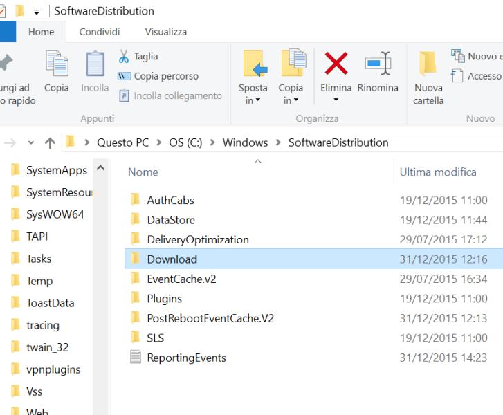 cancellare cache windows 10 (6)