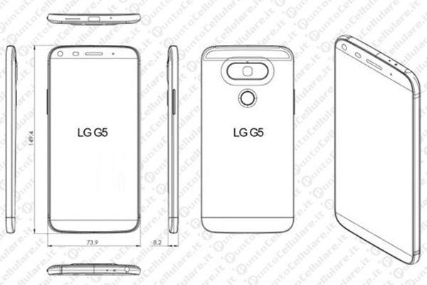 LG G5 design leaked