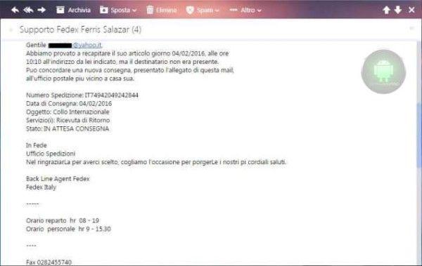 virus email Fedex