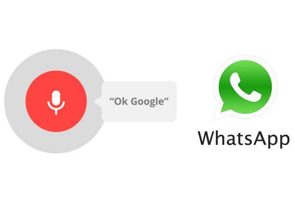 ok google voice whatsapp invia messaggio