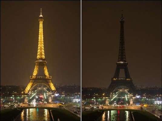 Earth Hour - The Eiffel Tower, Paris
