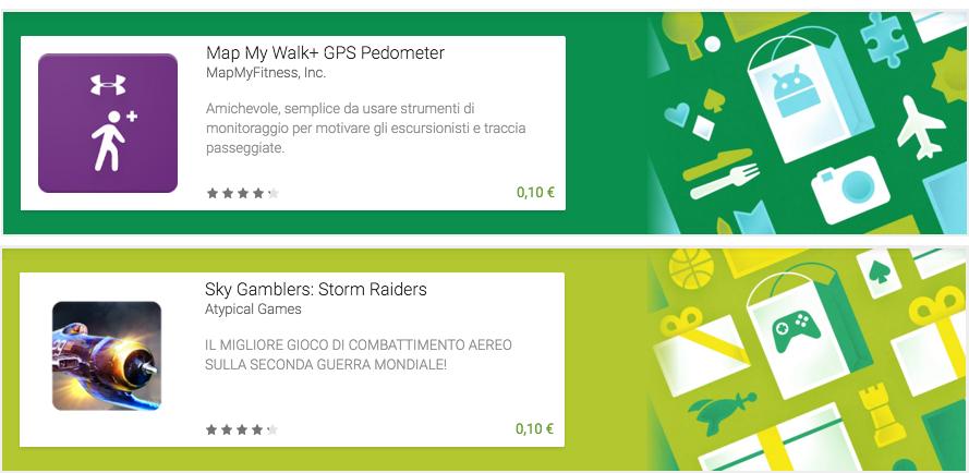 Map My Walk+ e Sky Gamblers disponibili a 10 centesimi sul Play Store
