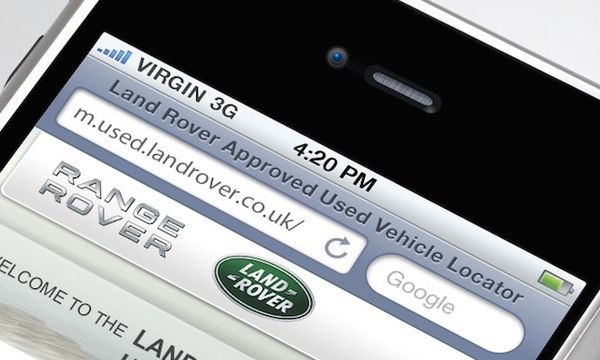 Smartphone Land Rover