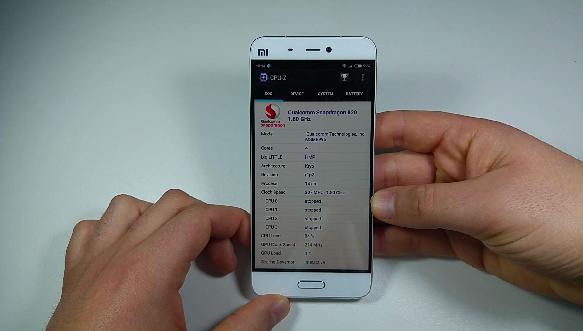 Xiaomi Mi5 cpuz