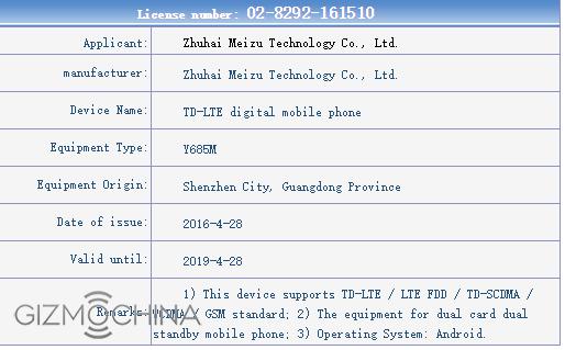 Tre smartphone Meizu confermati da TENAA