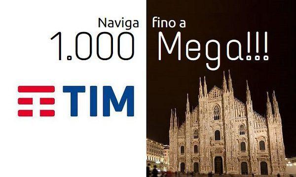 TIM lancia la fibra ottica FTTH a 1000 Mega in Italia