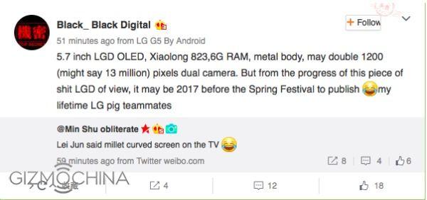Smartphone Xiaomi con display curvo nel 2017