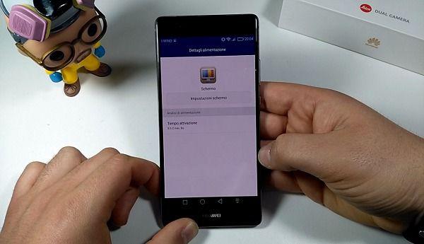 Huawei P9 plus ore di schermo
