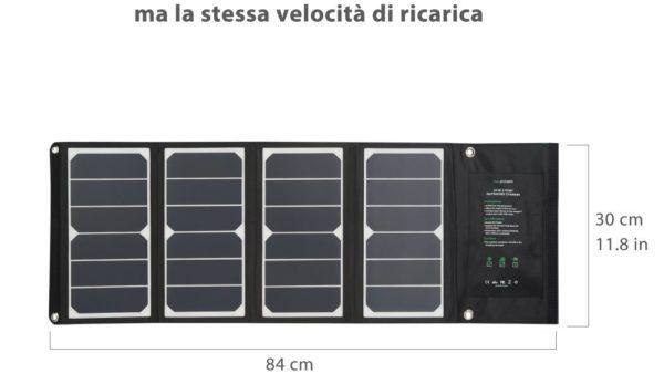 RAVPower 24W Caricabatterie Solare con 3 porte USB, la recensione (7)