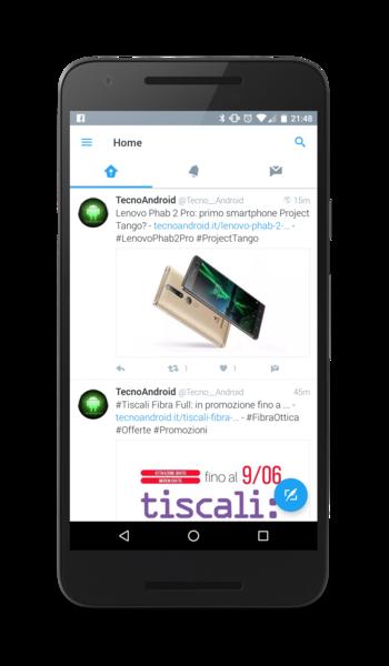 Twitter Material Design