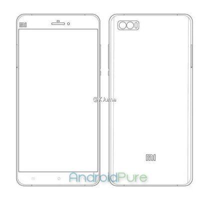 Il render del nuovo smartphone Xiaomi con dual camera