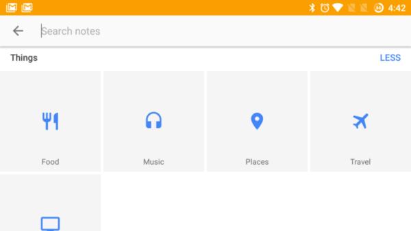 Google Keep categorie