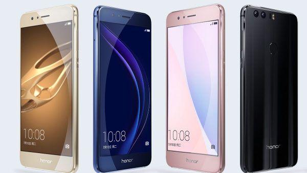 Huawei Honor 8, tante le colorazioni messe a disposizione dell'utente