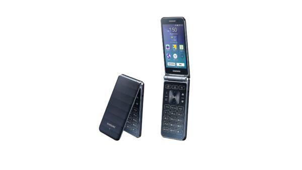 Un render dello smartphone a conchiglia Samsung Veyron