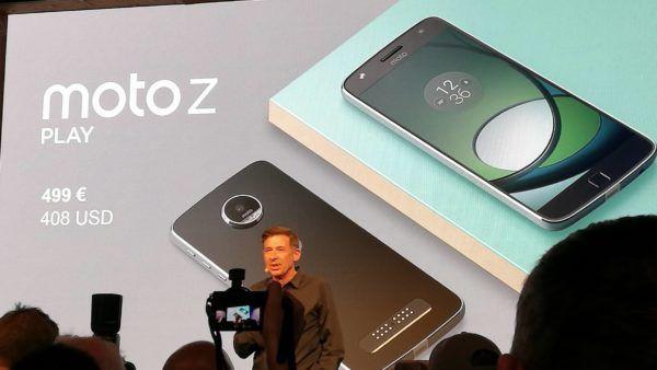 Il Moto Z Play svelato durante l'evento di Lenovo all'IFA di Berlino