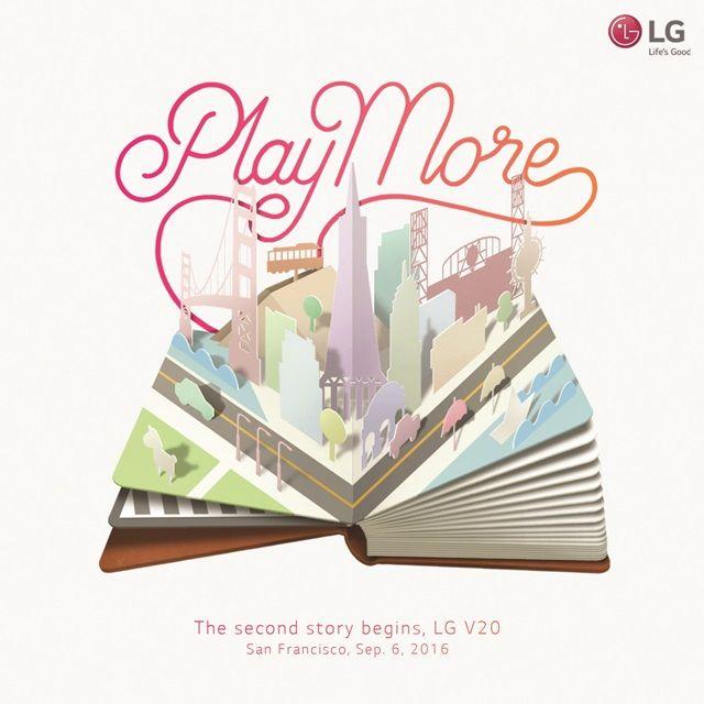 L'invito realizzato da LG per l'evento di presentazione del V20