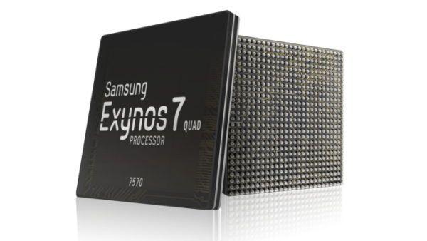 La nuova CPU Exynos 7570 targata Samsung, caratterizzata da una riduzione dimensionale del 20%