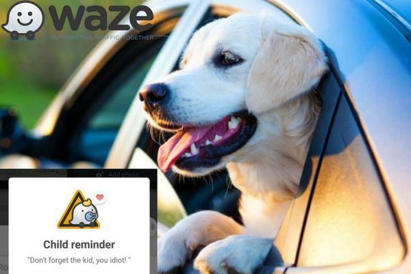 Waze si aggiorna ricordandovi di non lasciare i bambini in auto
