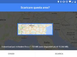 Google Maps mappe offline